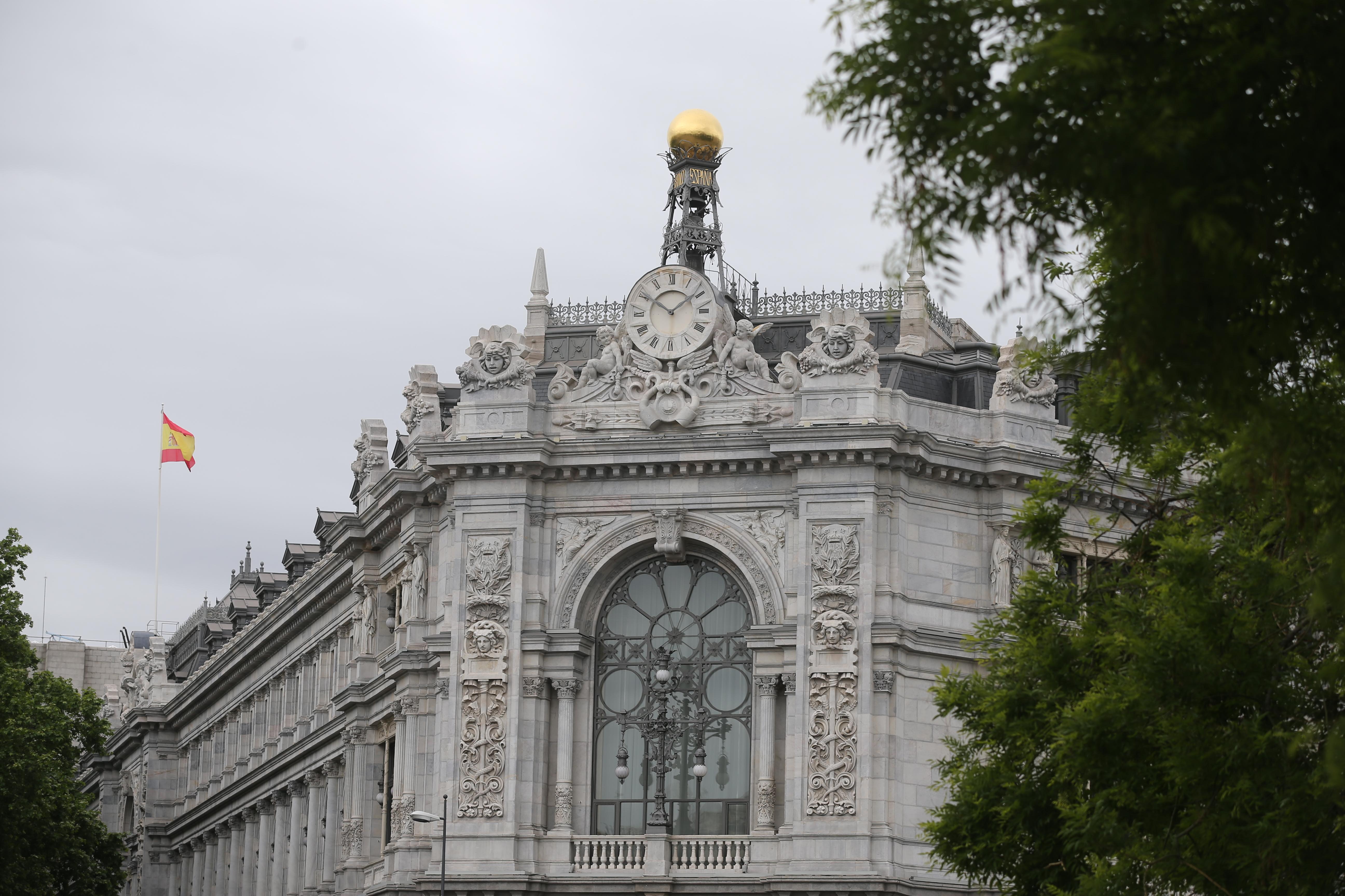 Cúpula de la sede del Banco de España el día que ha publicado su informe anual, a 13 de mayo de 2021, en Madrid (España).