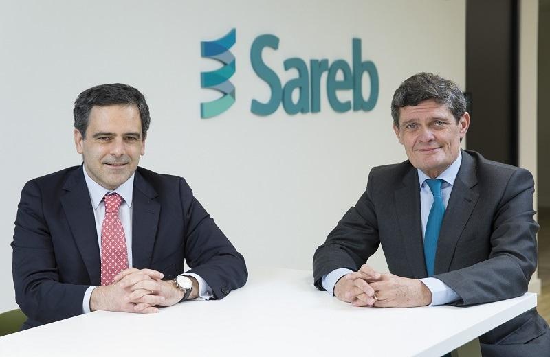 Javier García del Río (izq) y Jaime Echegoyen (dcha), consejero delegado y presidente de Sareb, hasta hace unas semanas / Sareb