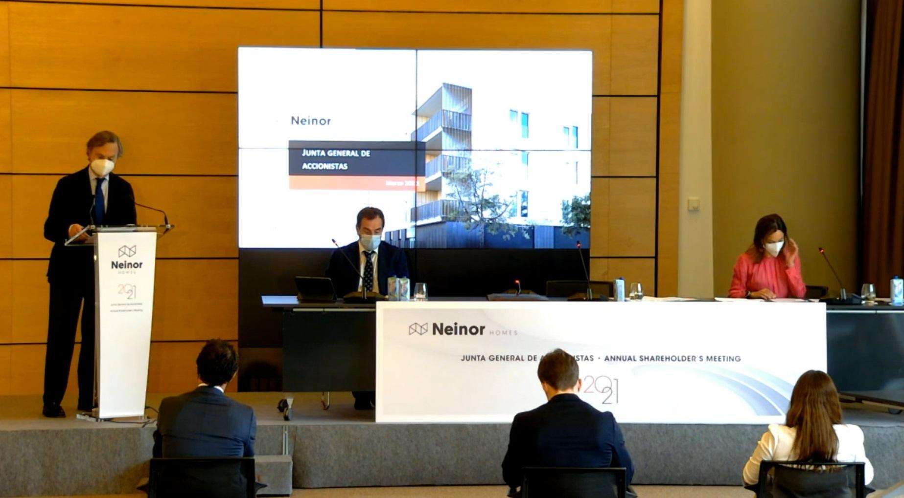 Archivo - Celebración de la junta de accionistas de Neinor