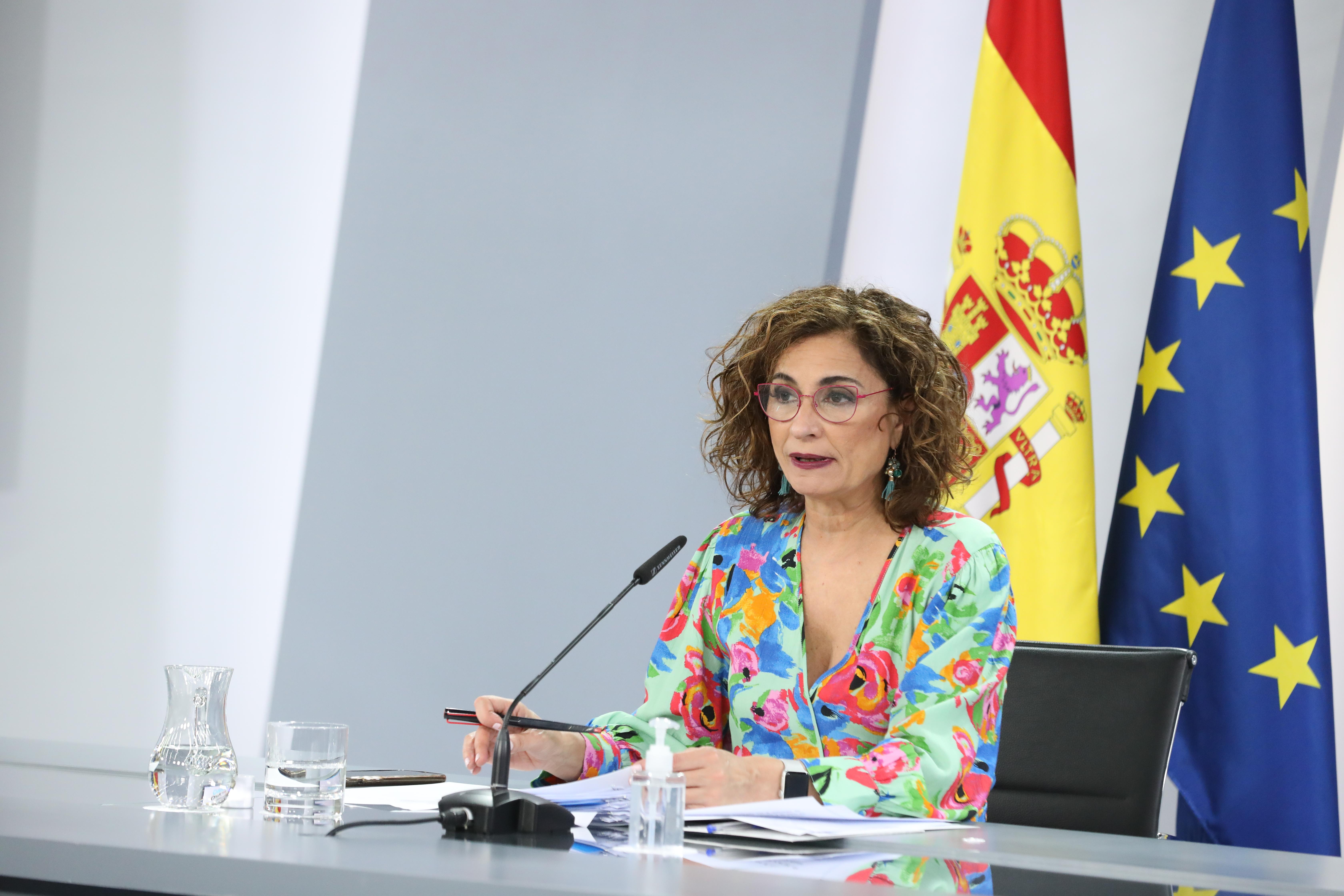 La ministra portavoz y ministra de Hacienda, María Jesús Montero