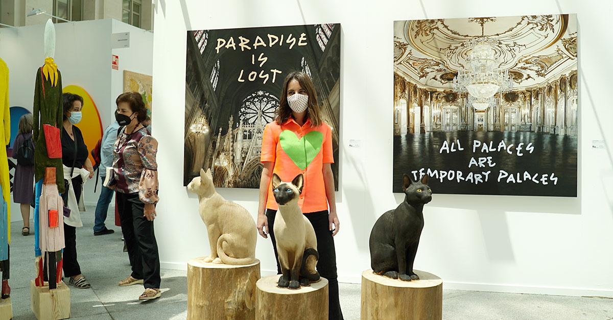 Andrea Levy inaugurando ART MADRID