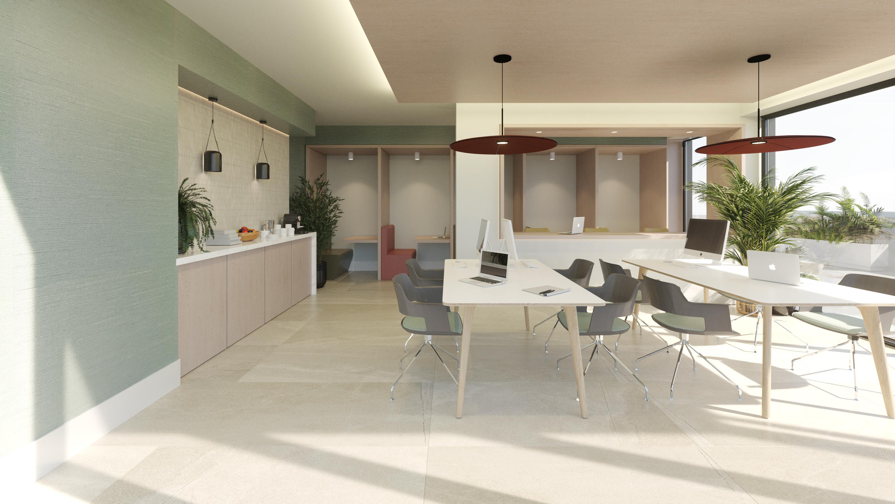 Sala de coworking / Levitt