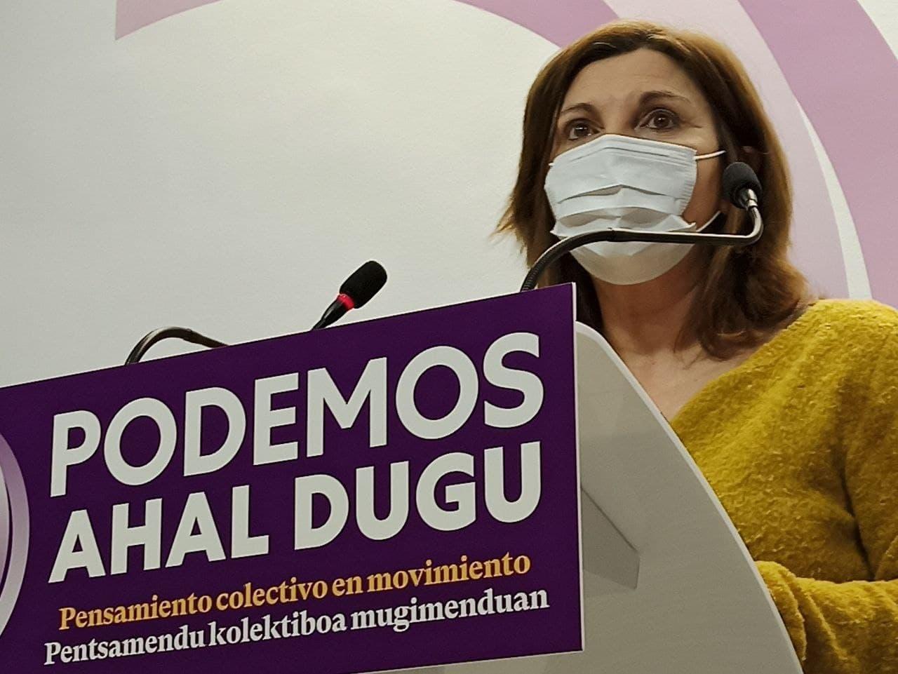 La diputada de Unidas Podemos Pilar Garrido / Europa Press