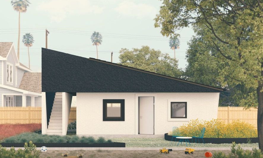 Fachada de las viviendas proyectadas