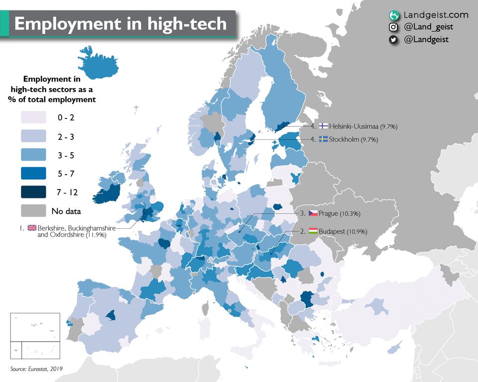 landgeist.com con datos de Eurostat 2019
