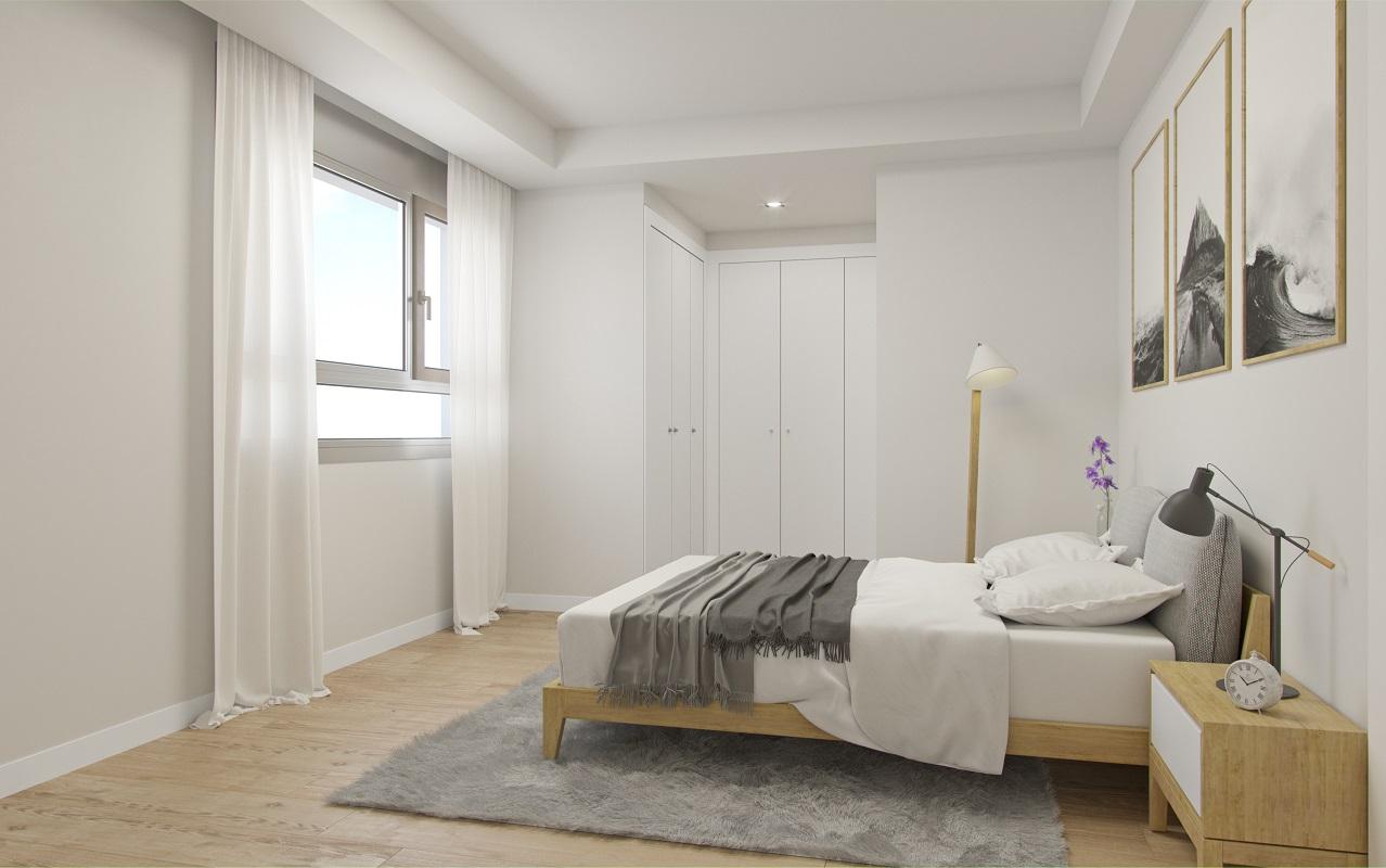 Los inmuebles tienen entre dos y cuatro dormitorios