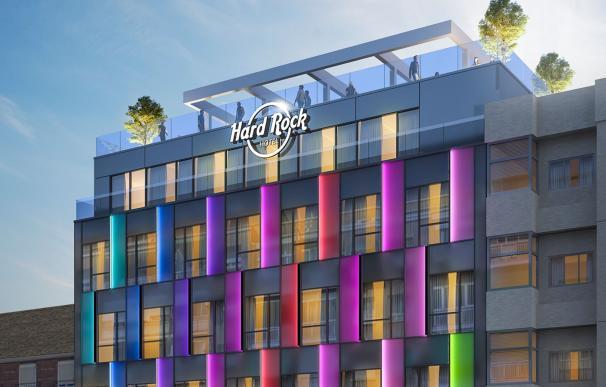 Simulación del hotel Hard Rock de Atocha / Hard Rock