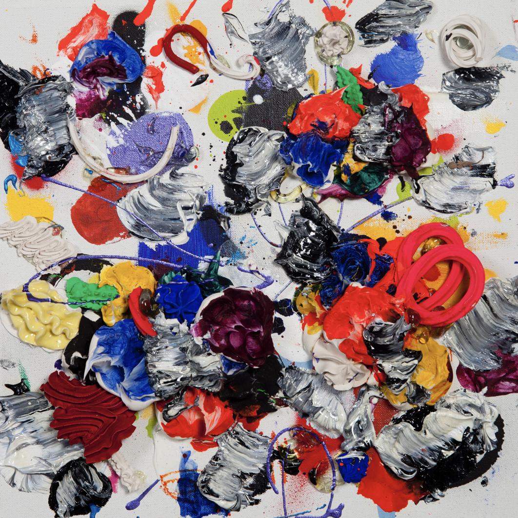 Pintura de Ismael Lagares por 3.500 euros (55x55 cm)