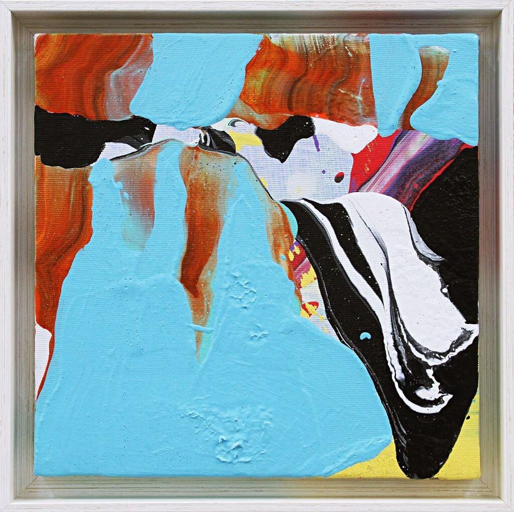 Pintura de Santiago Picatoste por 750 euros (24 x 24 cm)