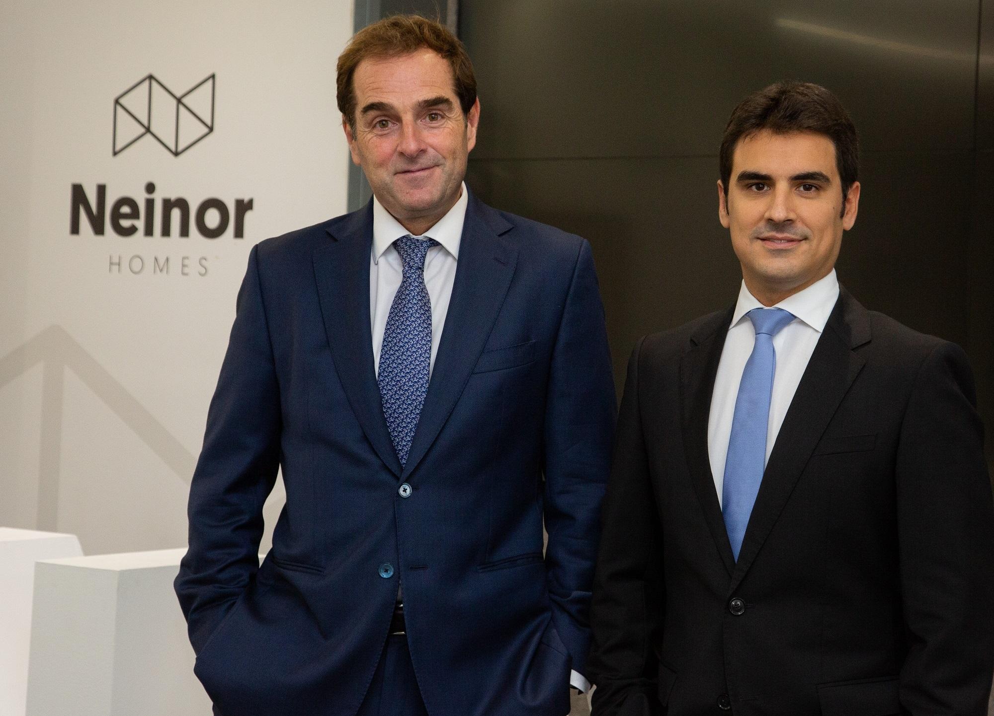 Archivo - Borja García-Egotxeaga, CEO de Neinor Homes, y Jordi Argemí, consejero delegado adjunto / NEINOR HOMES - Archivo