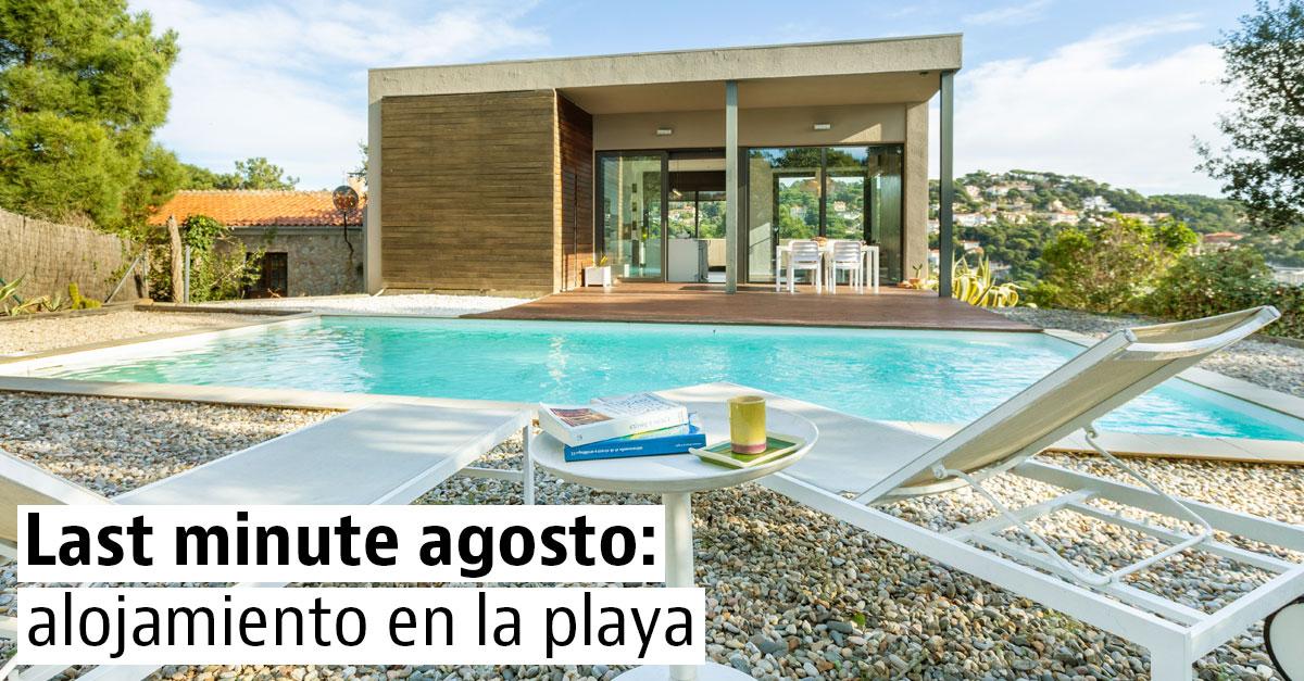 Alojamiento de última hora para disfrutar de la playa en agosto