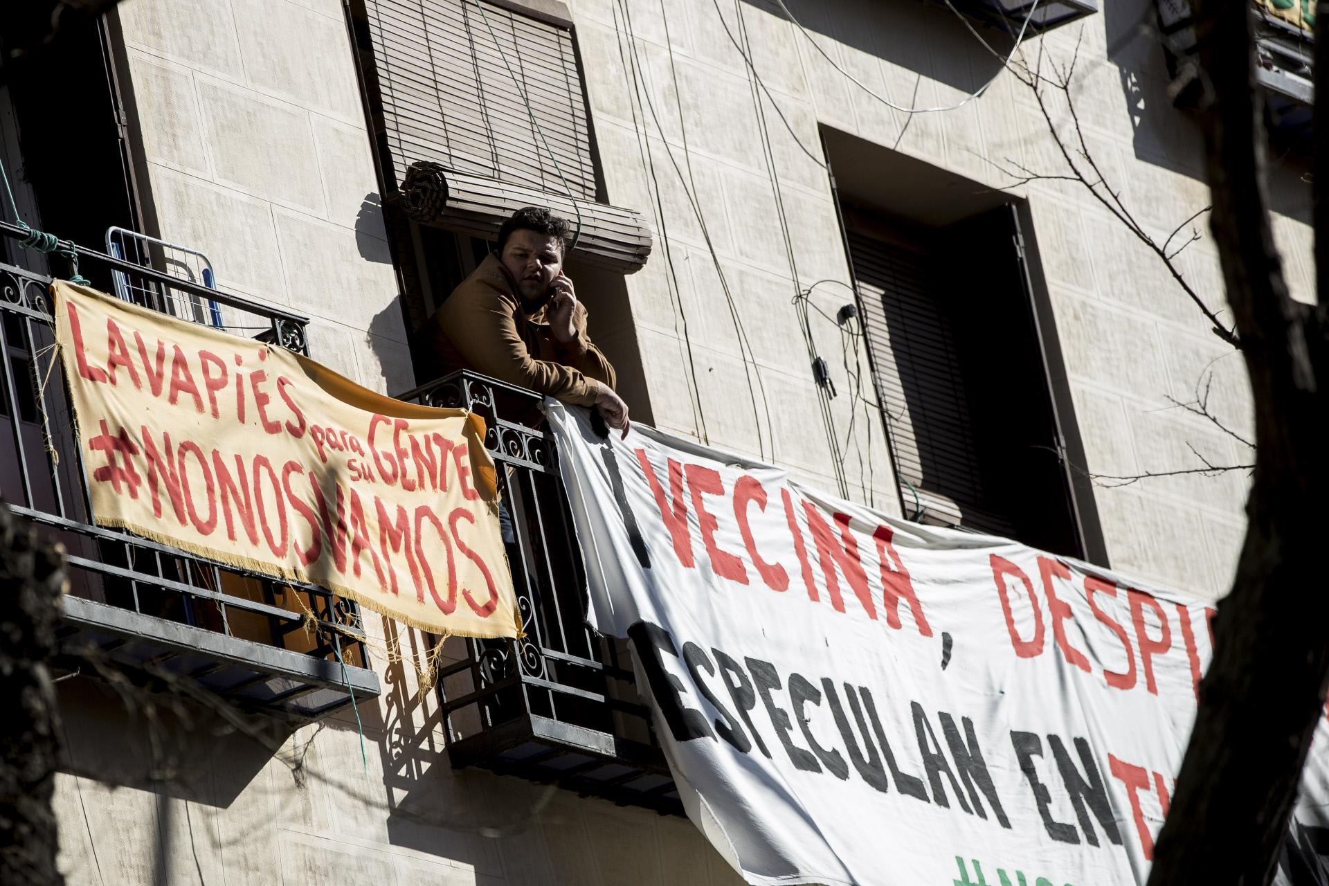 Desahucio en Lavapiés, Madrid / Gtres