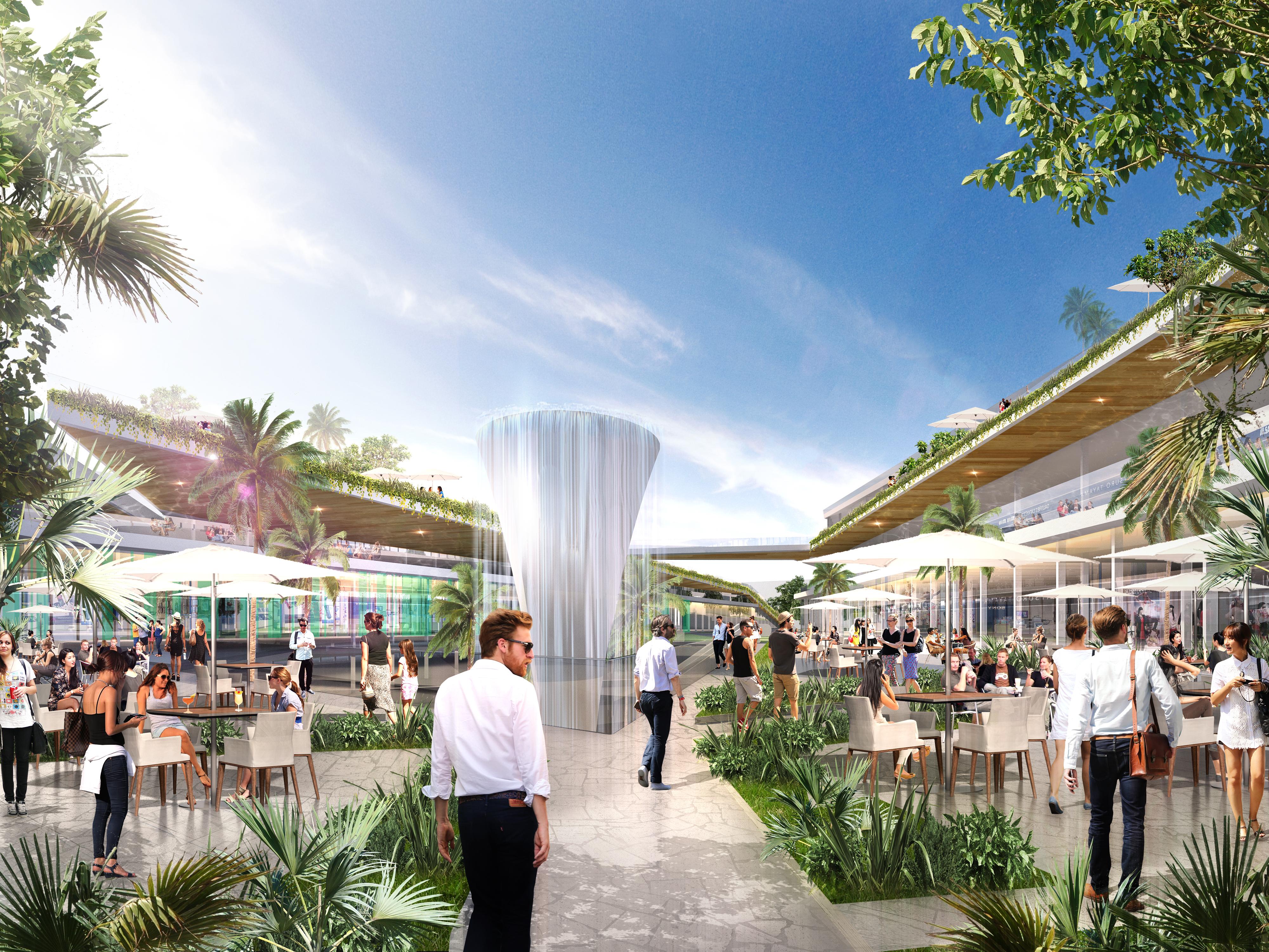 El futuro complejo comercial Marbella Plaza