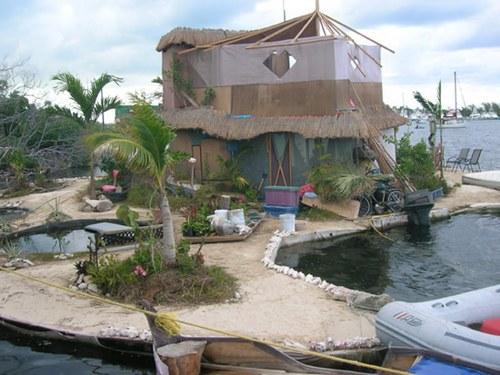 Una isla artificial flotante construida en México por un artista británico