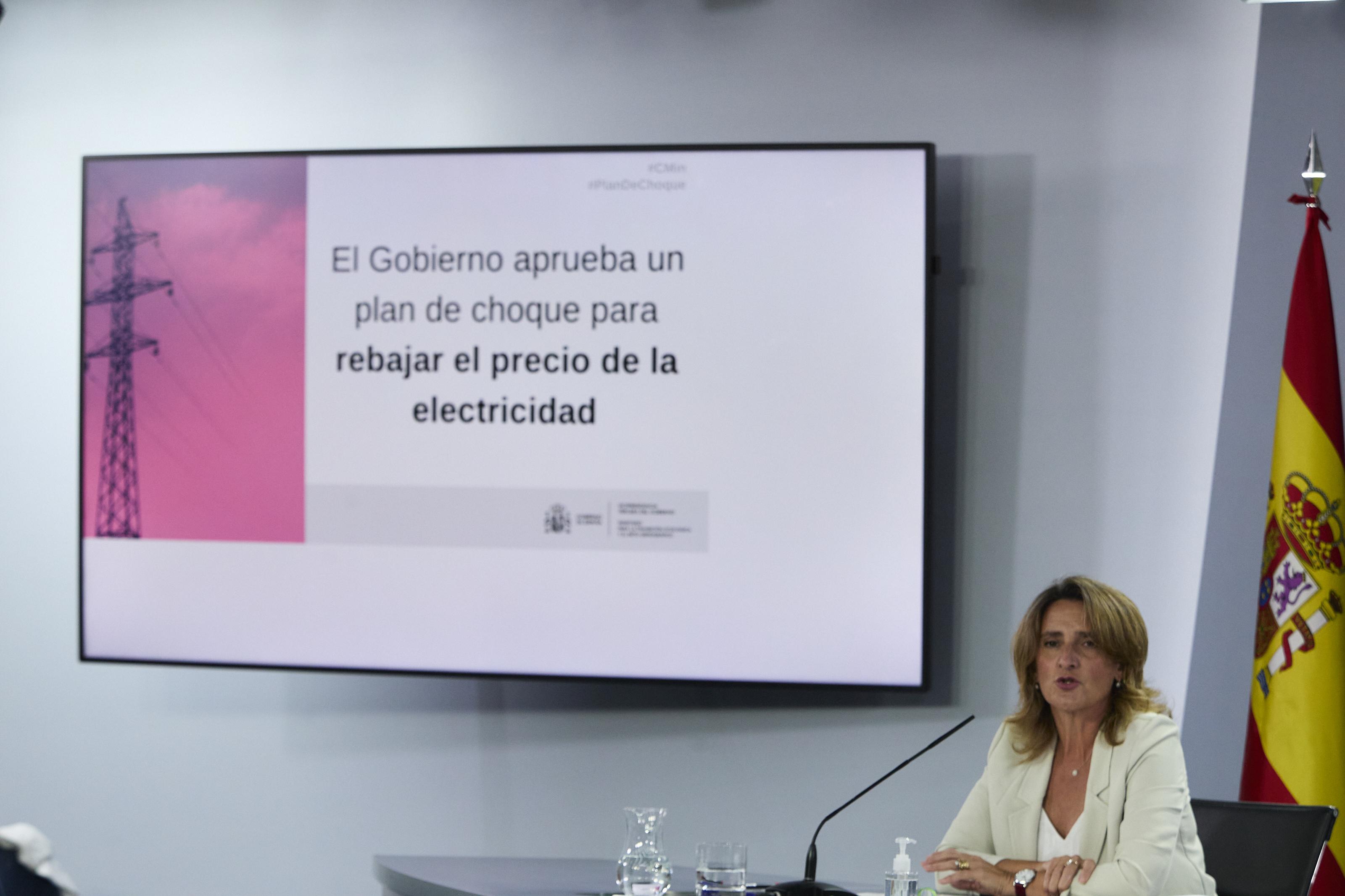 La vicepresidenta tercera y ministra de Transición Ecológica y Reto Demográfico, Teresa Ribera