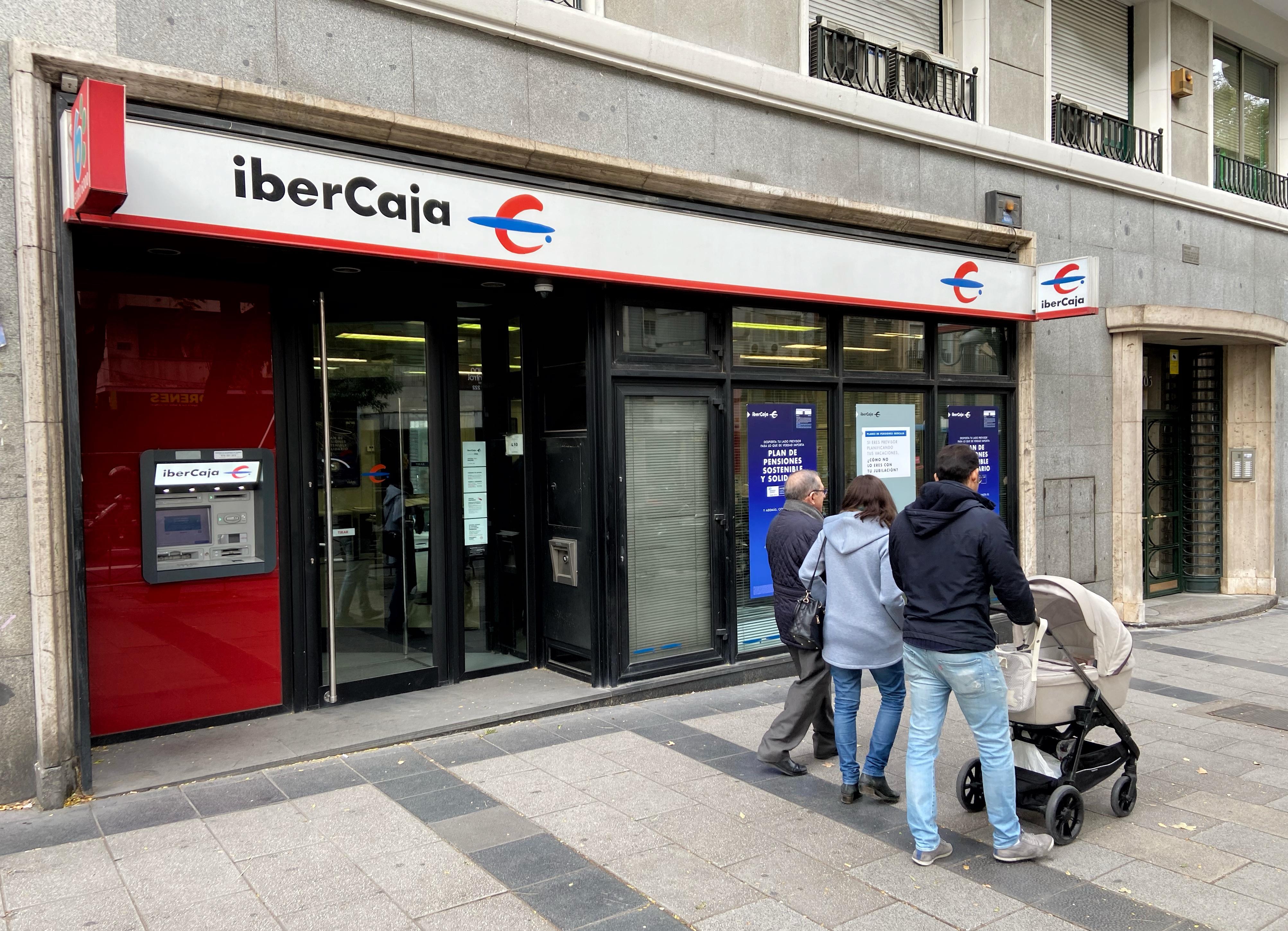 Una oficina de Ibercaja en Madrid
