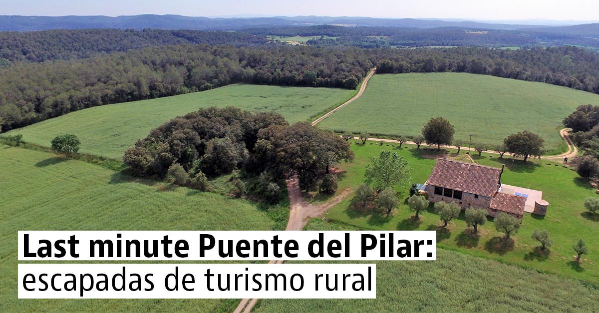 15 casas rurales disponibles para el Puente del Pilar
