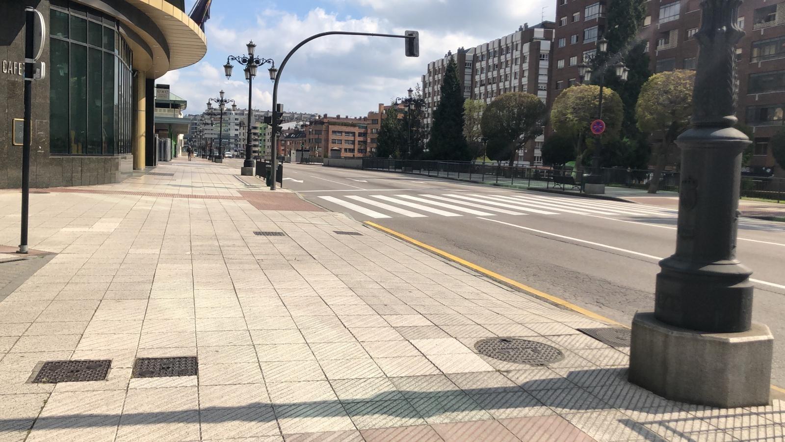Calles de Oviedo vacías