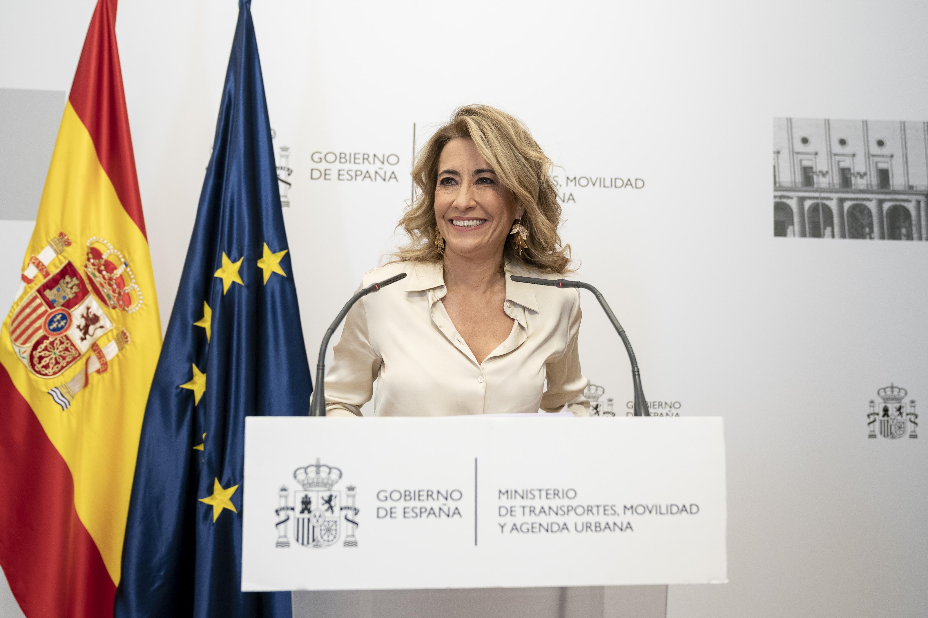 La ministra de Transportes, Movilidad y Agenda Urbana, Raquel Sánchez / A. Pérez Meca - Europa Press