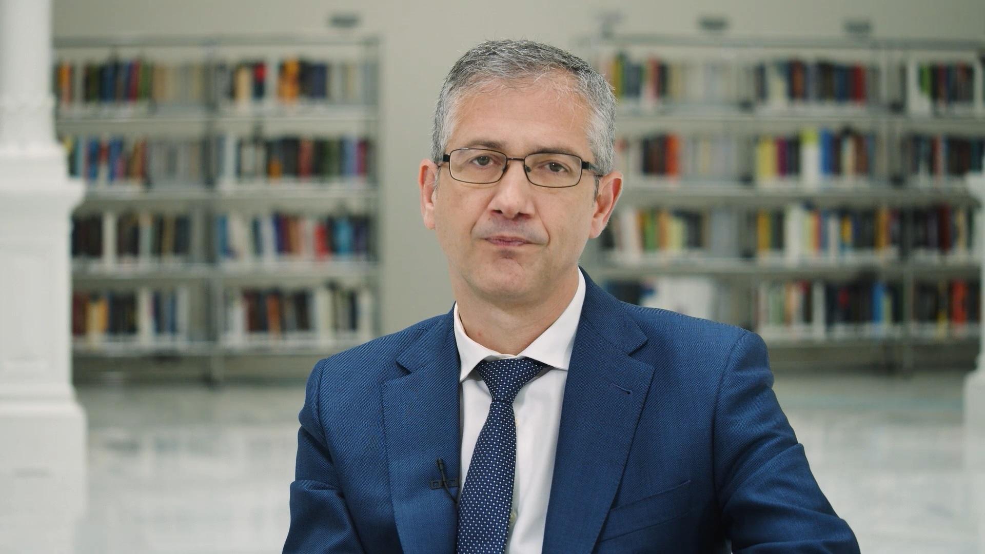 El gobernador del Banco de España, Pablo Hernández de Cos, en un mensaje que acompaña al Informe Anual de 2020.