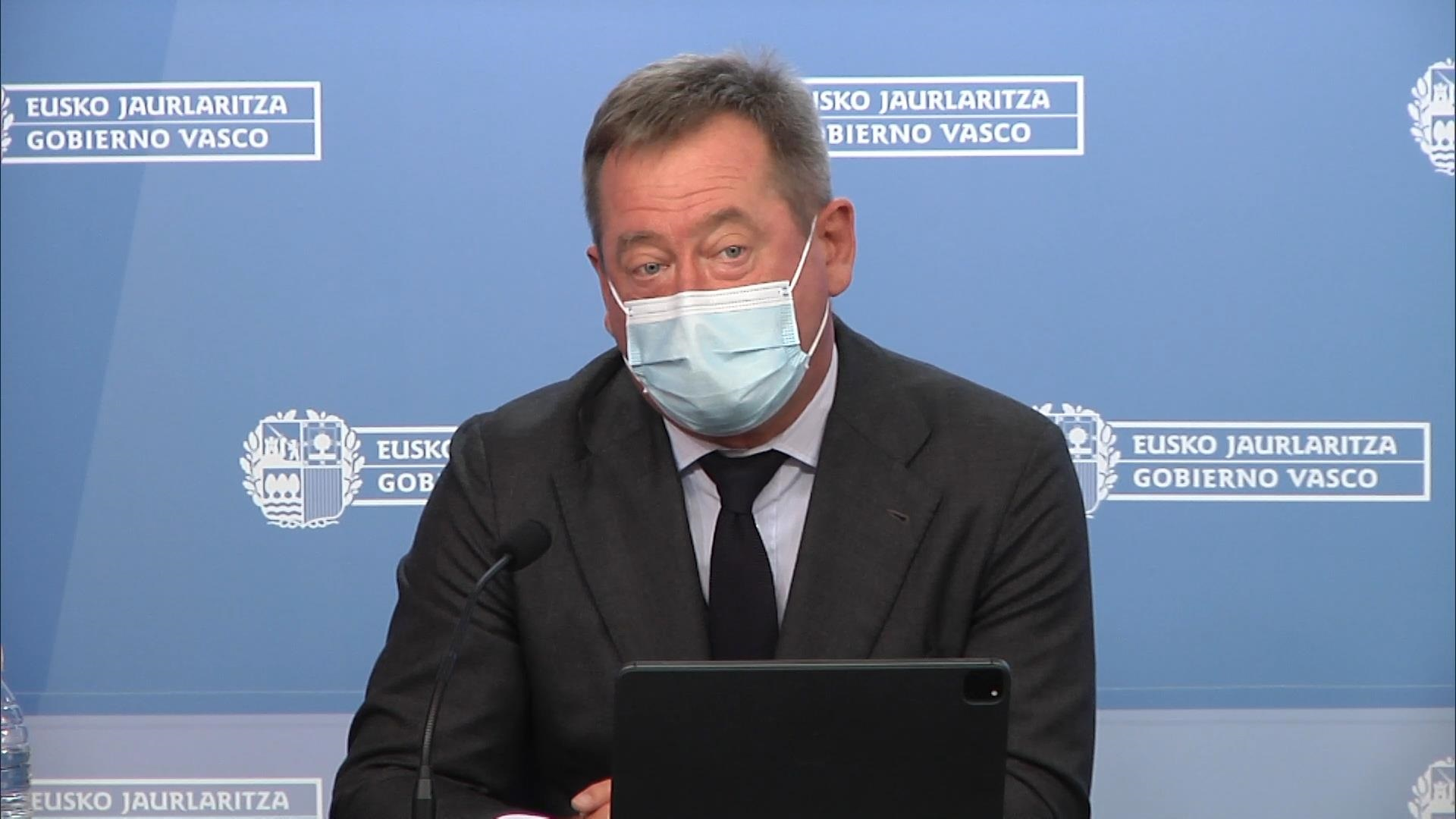El portavoz del Gobierno Vasco, Bingen Zupiria