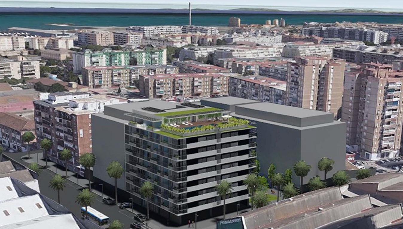 Promoción proyectada en Los Guindos (Málaga) / Grupo Lar