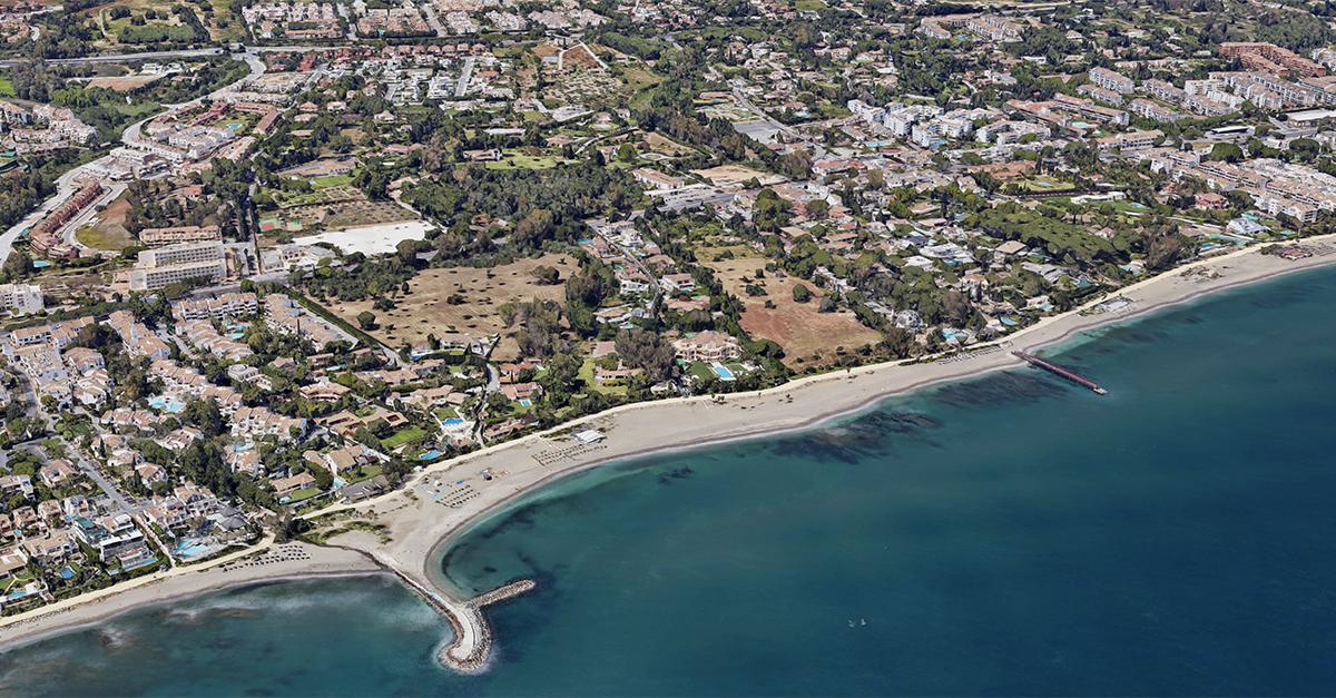 Vista aérea del barrio de Nagüeles, en Marbella / Google Maps