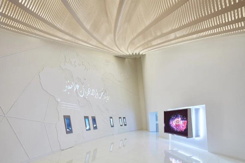 Interior del pabellón de Catar / palladium photodesign / oliver schuh + barbara burg