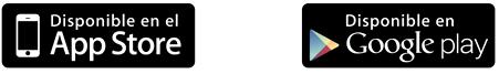 Logo de App Store y Google play