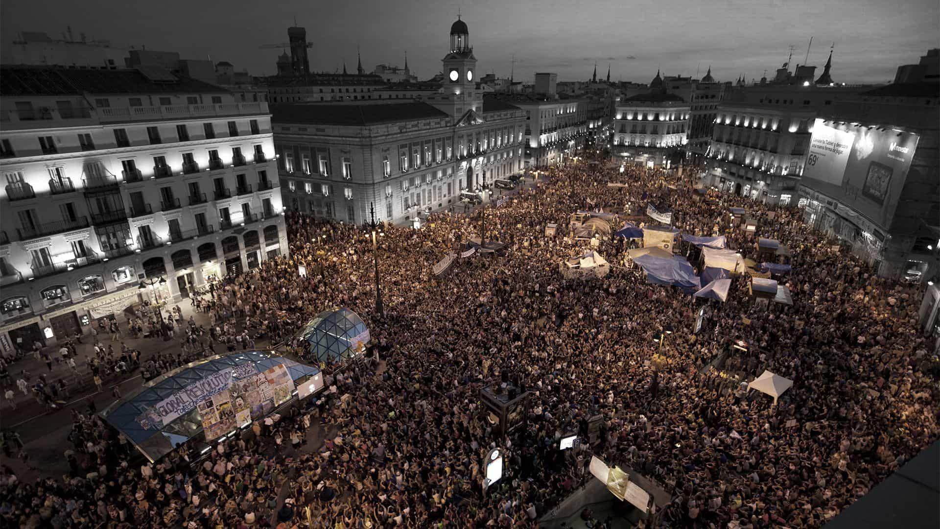 Acampada Puerta del Sol, 15M Madrid