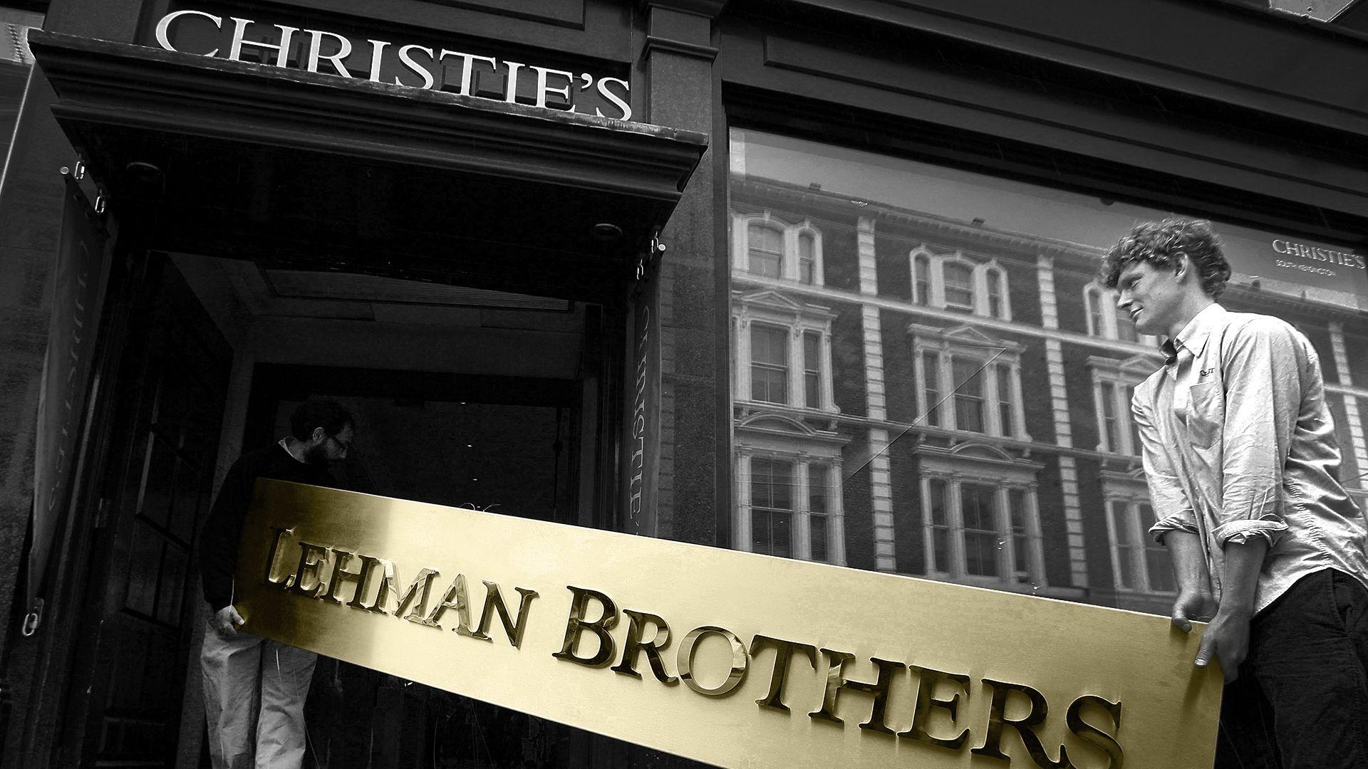 Cartel Lehman Brothers en casa de subastas Christies