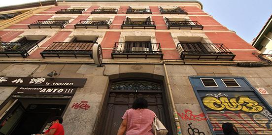 El edificio con más muertes en Madrid