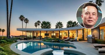 Elon Musk pone a la venta su mansión de Los Ángeles por cuatro millones de euros