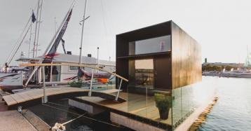 Con esta genial casa prefabricada puedes vivir flotando sobre las aguas