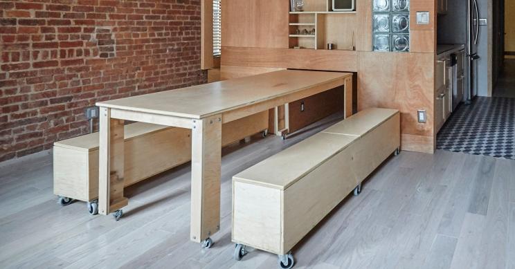 Dale una vuelta a la decoración de tu casa con estos asombrosos muebles sobre ruedas
