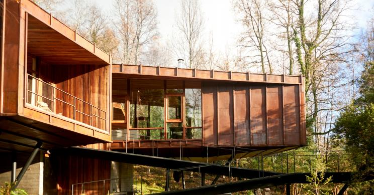 Esta vivienda situada en Chile simula la estructura molecular del agua