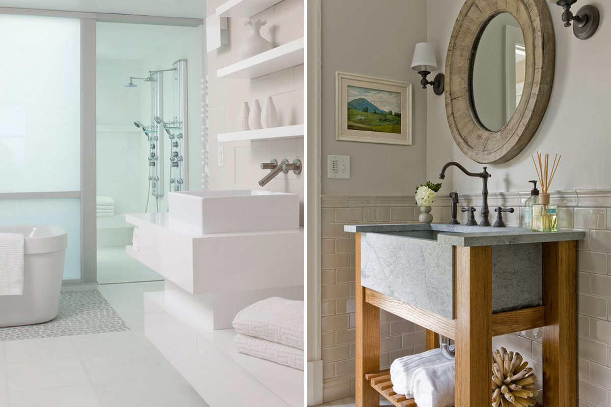 Ideas de decoraci n los lavabos m s originales que dar n - Muebles para lavabos pequenos ...
