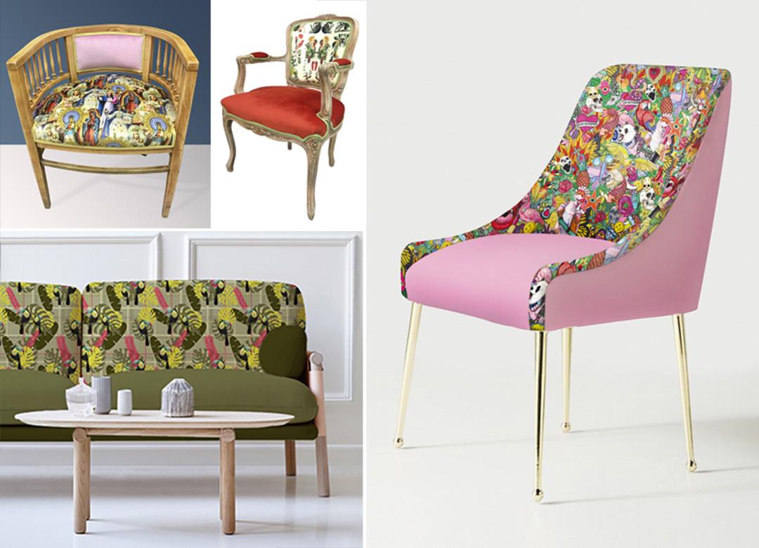 tela necesaria tapizar silla