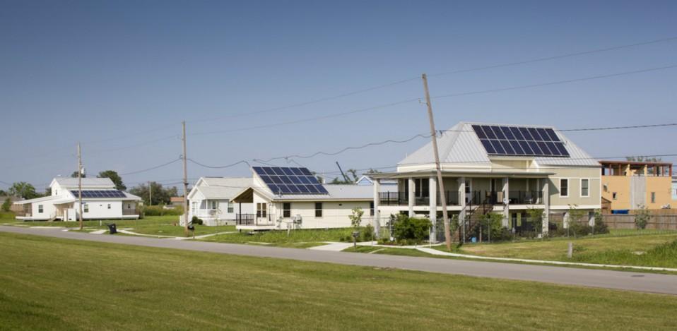 Viviendas con paneles solares fotovoltaicos