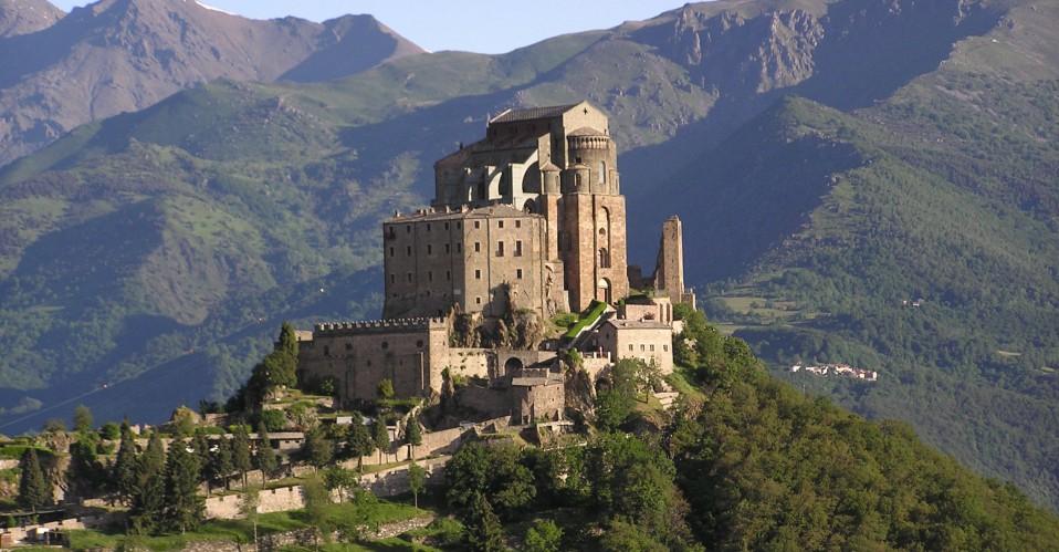 El antiguo monasterio en Italia