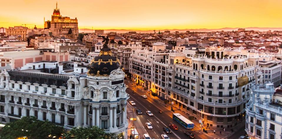 Vista de la Gran Vía de Madrid