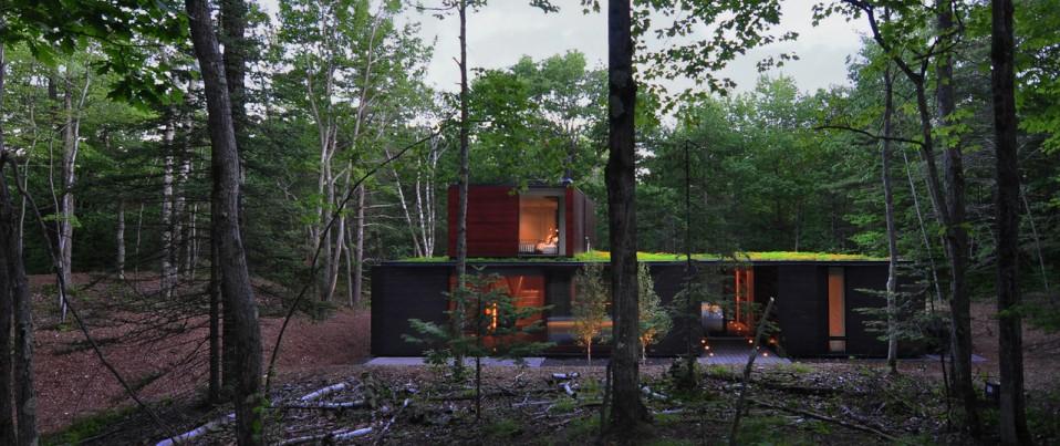 Vivienda construida en madera y acero natural