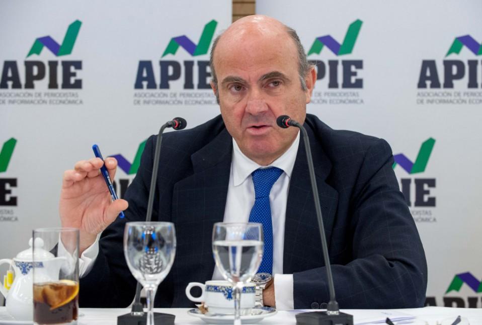 Luis de Guindos, ministro de Economía / APIE