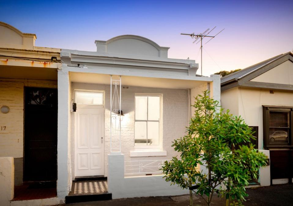 Una fachada clásica victoriana...