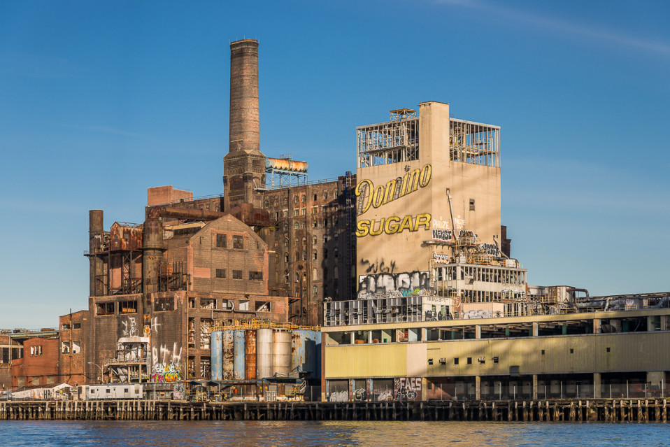 Las ruinas de una vieja fábrica en Brooklyn