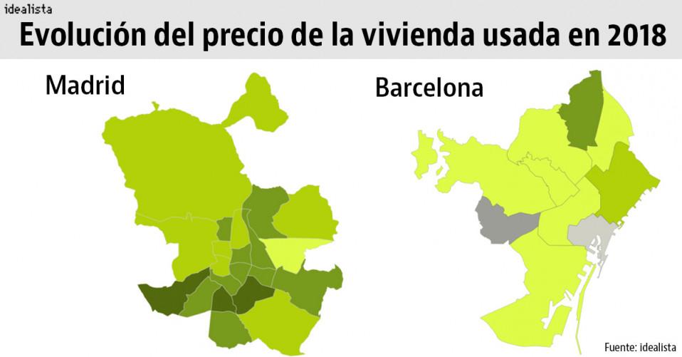Asi Ha Evolucionado El Precio De La Vivienda Usada En Tu Barrio Madrid Y Barcelona Idealista News