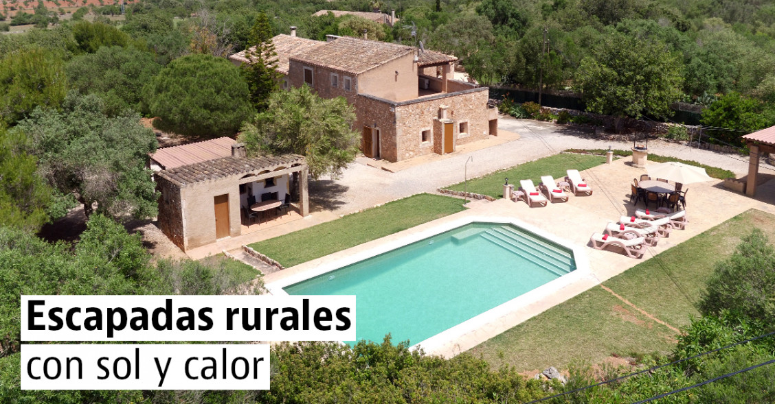 12 casas rurales para disfrutar del buen tiempo