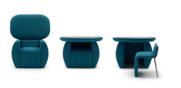 Un sillón que se separa en dos muebles