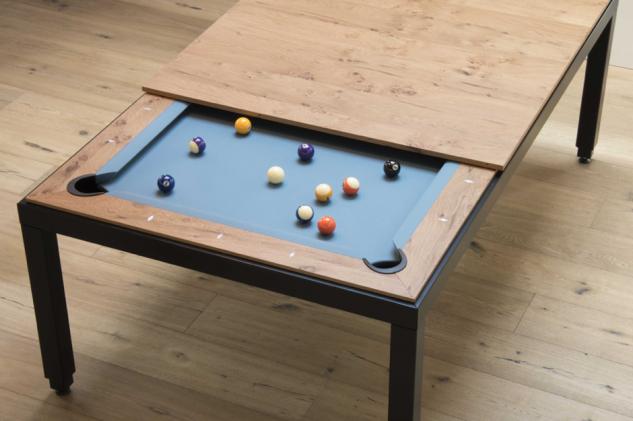 Una mesa para comer… o para jugar al billar