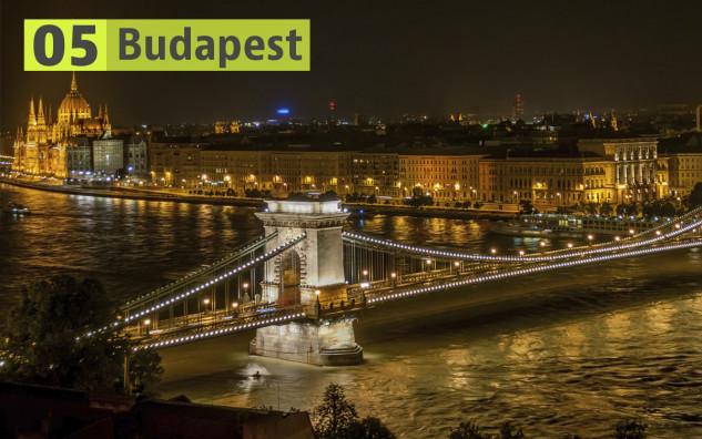 Budapest (Hungría): 210 euros